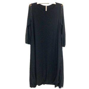 Cynthia Ashby | Black Mesh Dress- Sz Medium USA